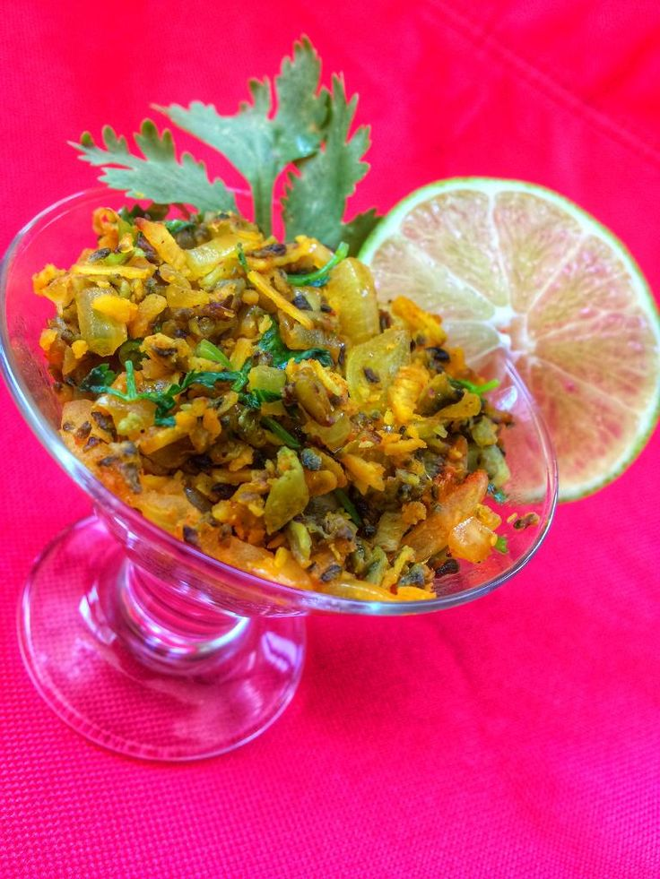 Karyatyachi Kismur is a bitter spicy tangy vegetarian version of kismur made with bitter-gourd instead of dry fish. It is usually served as a side dish with a Hindu Goan vegetarian meal.