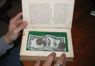 Make a secret book safe to stash your booty in just four easy steps.