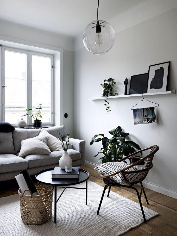 36 Beautiful Grey Scandinavian Living Rooms Ideas in 2020 ...