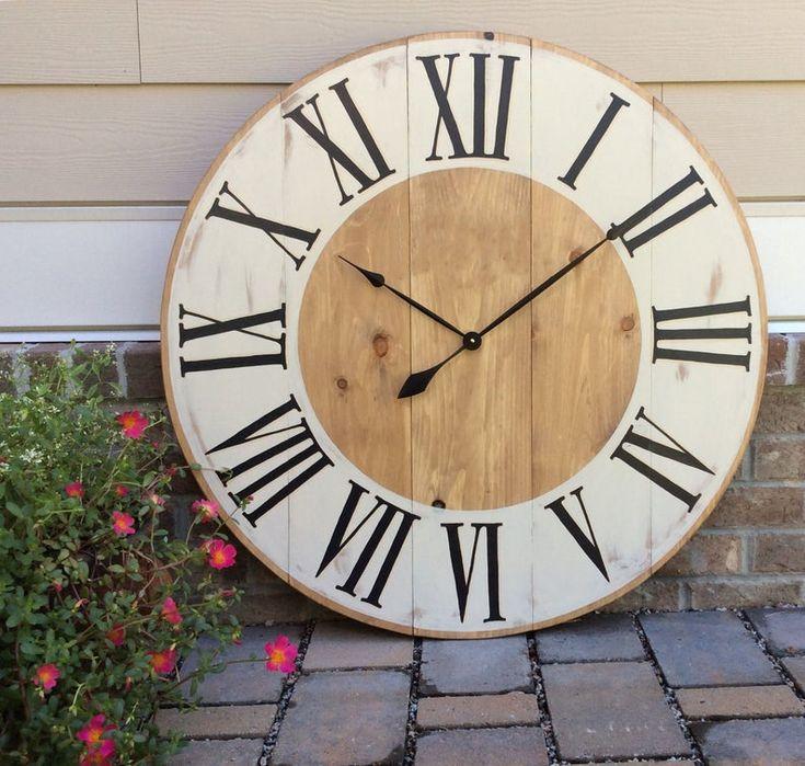 Farmhouse style large wall clock oversized wall clocks