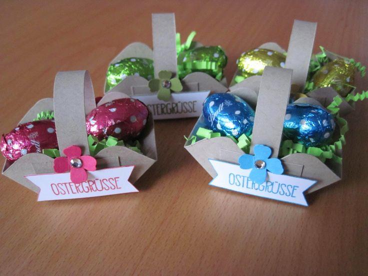 Stempelhimmel: Mini-Osterkörbchen für den Osterstisch mit Anleitung
