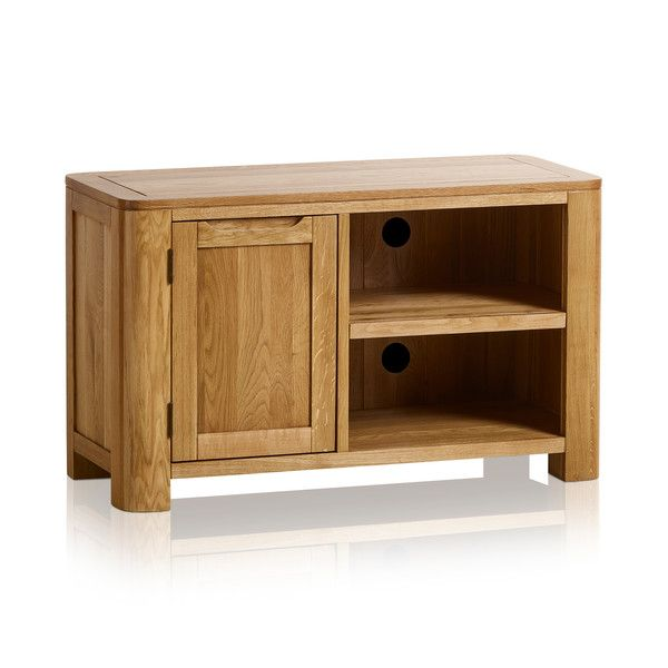 Romsey Natural Solid Oak Small Tv Unit In 2020 Small Tv Unit Oak Furniture Land Small Tv Cabinet