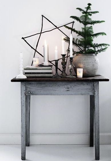 simple grey pot with live tree
