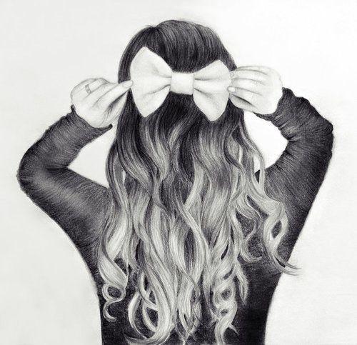 Moño | dibujo a lápiz | pencil drawing | Dibujos | Pinterest