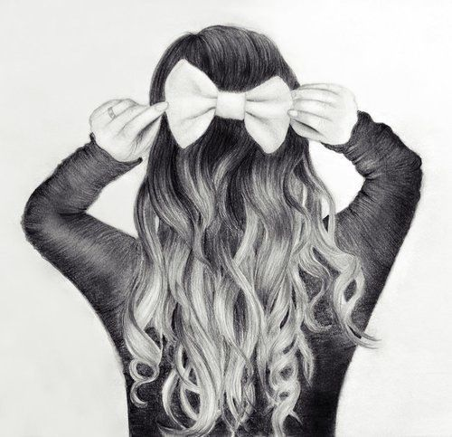 Moño | dibujo a lápiz | pencil drawing | Dibujos | Pinterest