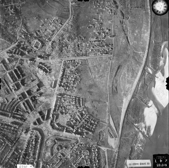Żoliborz, 7-XI-1944 rok. zbiory The National Archives at College Park, Maryland dzięki uprzejmości Zygmunta Walkowskiego. https://www.facebook.com/udzoliborz/photos/a.10150191941965291.433134.338666360290/10155694781200291/?type=1