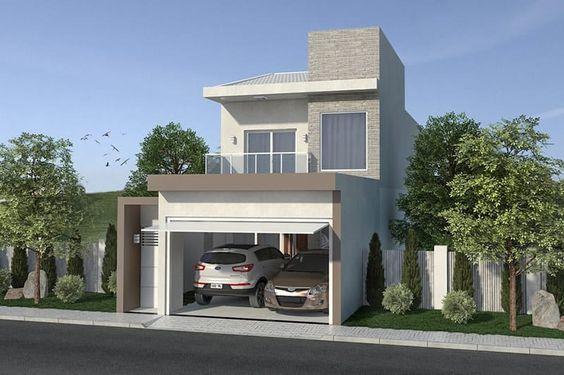 Plano de casa con balcón