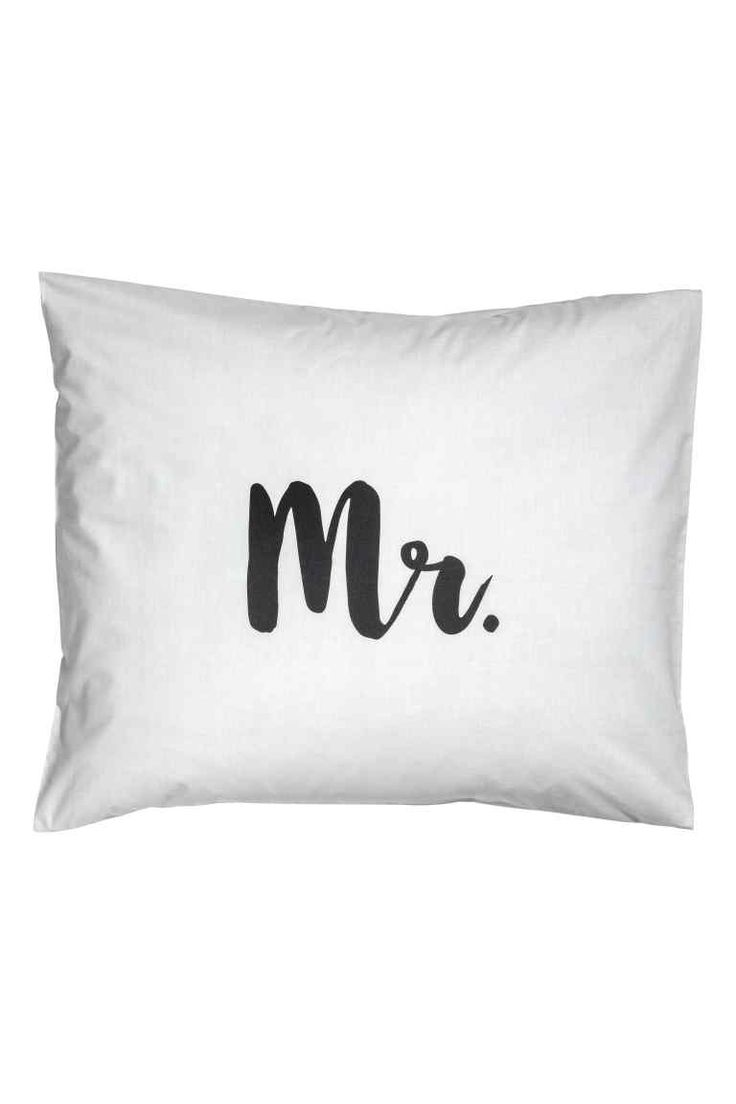 Taie d'oreiller - Gris clair/Mr - Home All | H&M FR 1