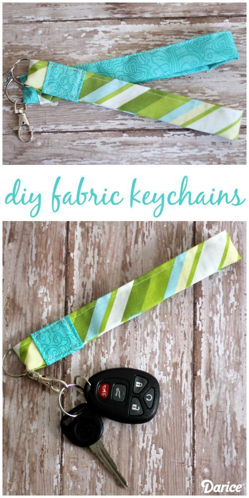 Fabric Wristlet DIY Keychain Tutorial