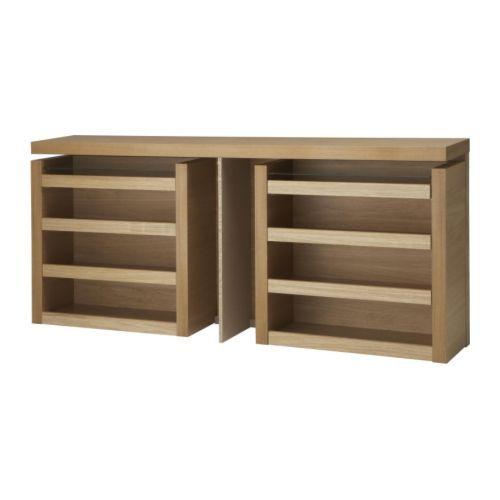 MALM Hoofdeinde/bedplank 3-delig - eikenfineer, 140 cm - IKEA €140