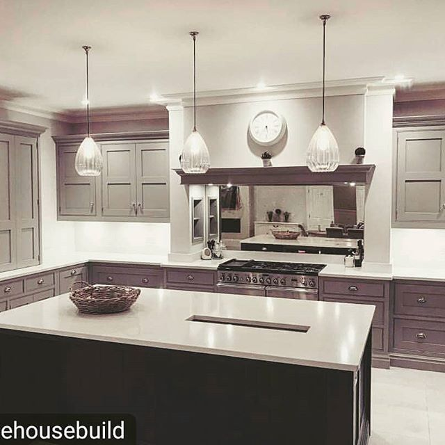 Wellington pendants make gorgeous feature lighting over a kitchen island dont you think