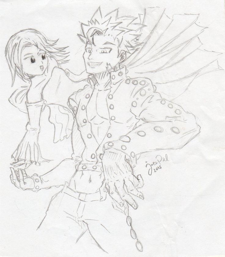 Nanatsu no taizai | Ban & Elaine fanartv by Joes Pal.
