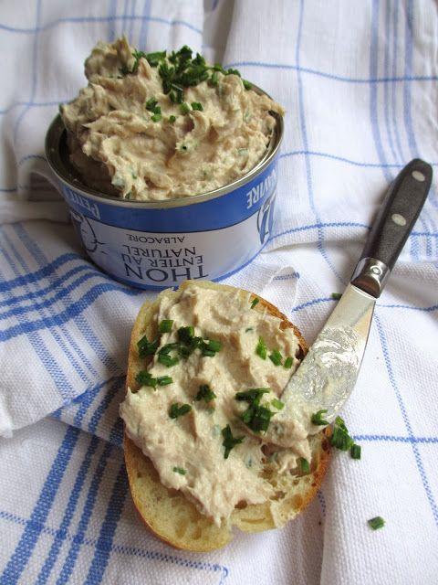 Rillettes au thon : thon au naturel, Tartare,  echalotte, ciboulette, crème fraîche allégée, poivre