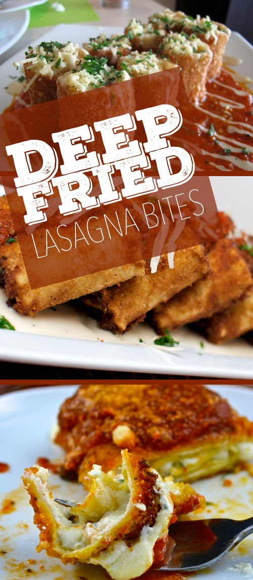 """Deep Fried Lasagna Rolls: If your cheat day is coming up and you are looking for something indulgent to try, look no further because we have the perfect recipe for you. Once you try """"Deep-Fried Lasagna"""" there's no going back."""