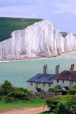 White Cliffs- as in- There'll be blue birds over  The white cliffs of Dover  Tomorrow.....remember wartime, Freida & the Oxbox!