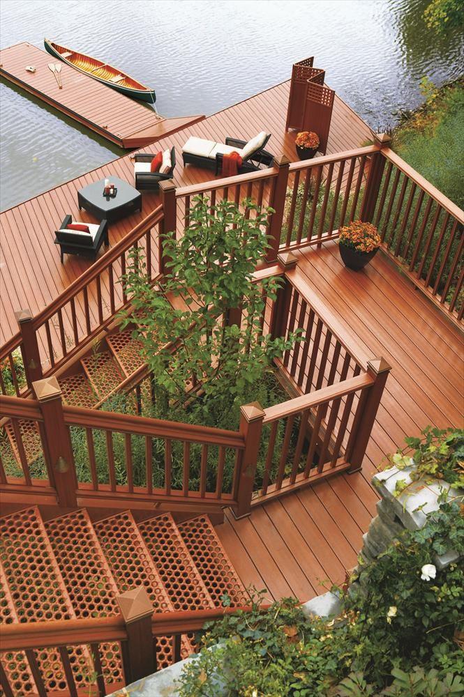 Builddirect 174 Kontiki Deck Railing Synthetic Wood Kit