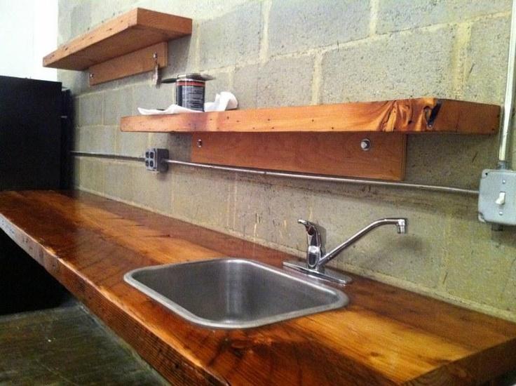 Office Kitchen - Reclaimed wood kitchen