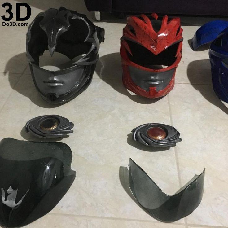 3D Printable Model: Black Ranger Helmet and Full Armor Suit from New Power Rangers Movie 2017 | Print File Format: STL – Do3D.com