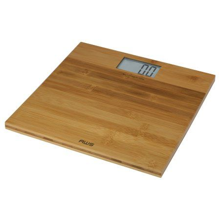 EcoWeigh Bamboo Large LCD Digital Scale, Multicolor