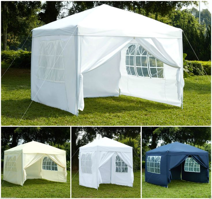Pop-Up 3x3 2x2 FULLY WATERPROOF Gazebo with Sides and Bag Garden Outdoor Marquee & Best 25+ Pop up canopy tent ideas on Pinterest | White canopy tent ...