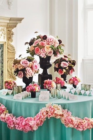 Cool and Minty...combine pink and mint with black.