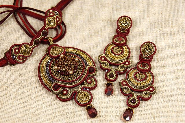 Soutache Pendant and Earrings | Flickr - Photo Sharing!