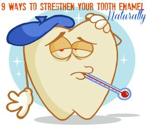 This post gives you 9 Awesome Ways to Strengthen Your Tooth Enamel Naturally.... A lot of great tips to help repair tooth enamel issues... #healthyteeth