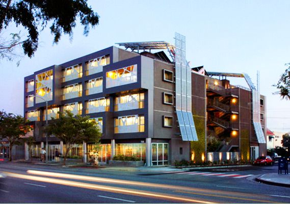 Sierra Bonita Apartments / low-income mixed use housing / WeHo / Green Building Ordinance pilot project