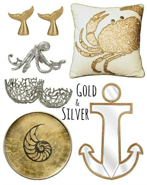 Gold And Silver Home Decor Accessories