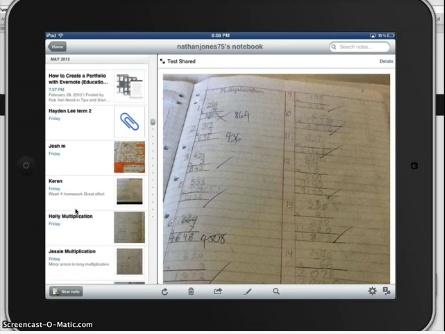How to Create Student Digital Portfolios using Evernote http://vimeo.com/42066807