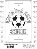 personalized world cup coloring page frecklebox worldcup2014 soccer