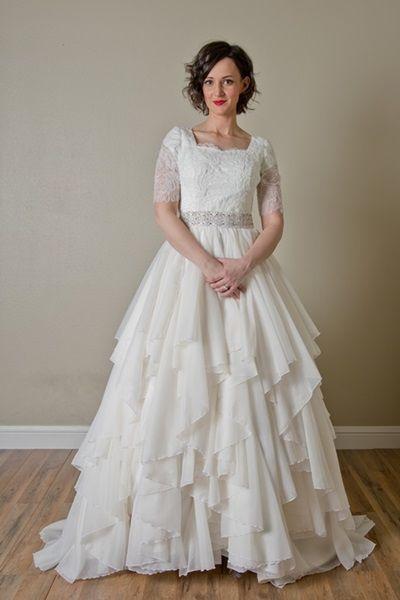 122 best Modest Wedding Dresses images on Pinterest   Modest wedding ...