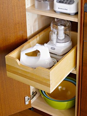 small appliance storage drawers
