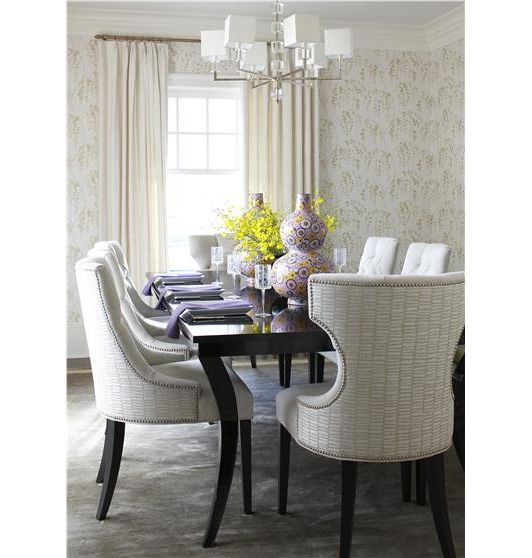 86 best contemporary dining rooms images on pinterest contemporary elegant contemporary dining room the chandelier and the clean lines of the window treatments complete sxxofo