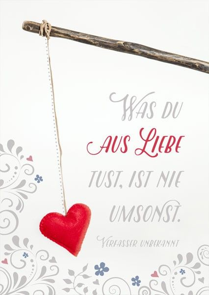 Postkarte - Aus Liebe