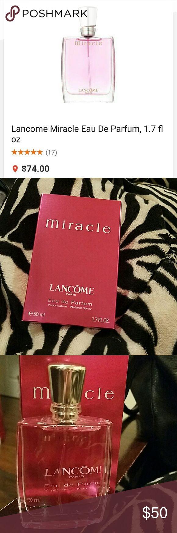 Lancome Miracle Eau De Parfum, 1.7 fl oz BNIB Lancome Miracle Lancome Makeup