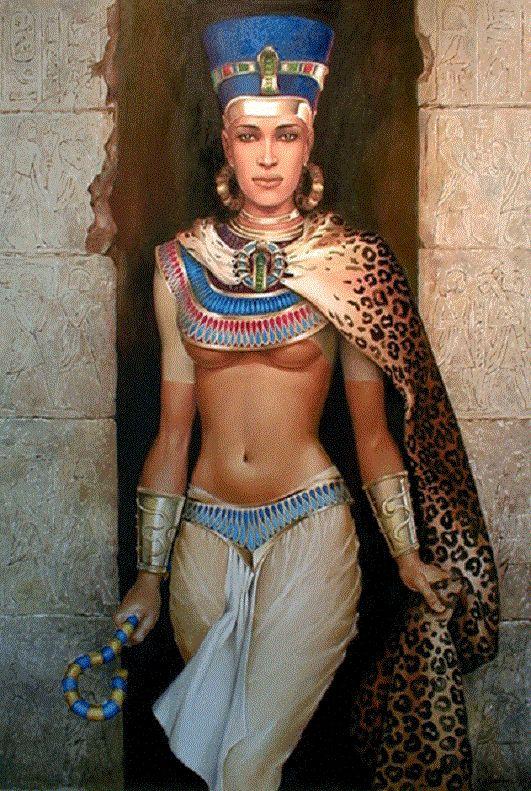 обнаженная женщина в костюме нефертити уверен