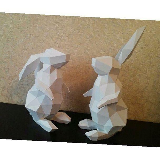 Paper Papercrafting Pepakura Rabbits Anastasiapapercrafting