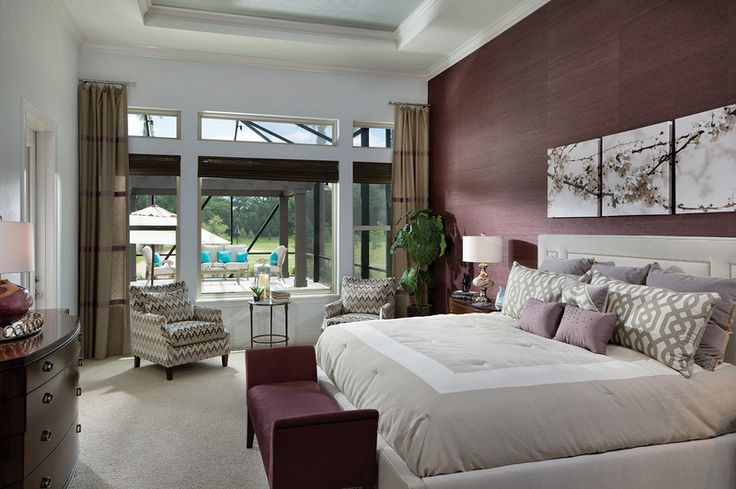Tropical Master Bedroom Design in Tampa
