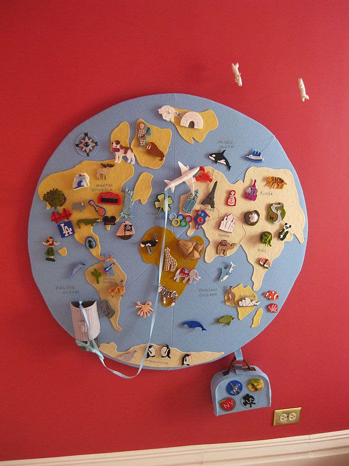 10 Unique and Creative Maps to Teach Kids Geography- I've so wanted to do something like this FOREVER.
