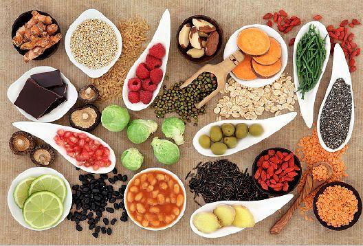 Alimentos com conceito Superfood