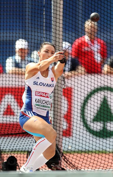 Veronika Kanuchova of Slovakia in action during qualifying for the waomen's hammer on day one of The 23rd European Athletics Championships at Olympic Stadium on July 6, 2016 in Amsterdam, Netherlands.