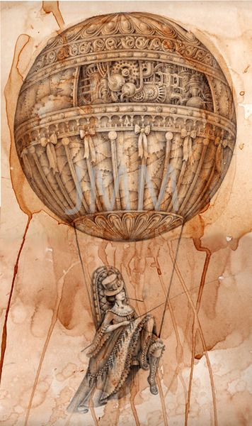 Steam Ingenious: Friday Finds: Airship Art, Part II ~ This is a very interesting blog I just started following. I love this work of art!