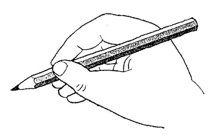 správné držení tužky - pravák