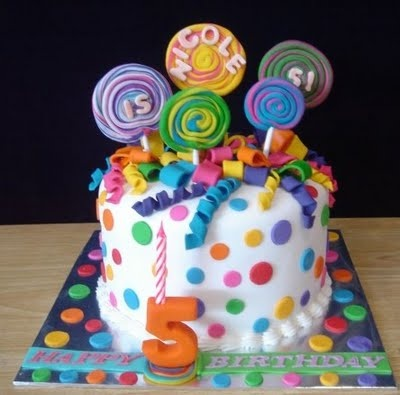Cute cake for a candy theme