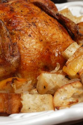 Ina Garten S Lemon Chicken With Croutons Recipe Dishmaps