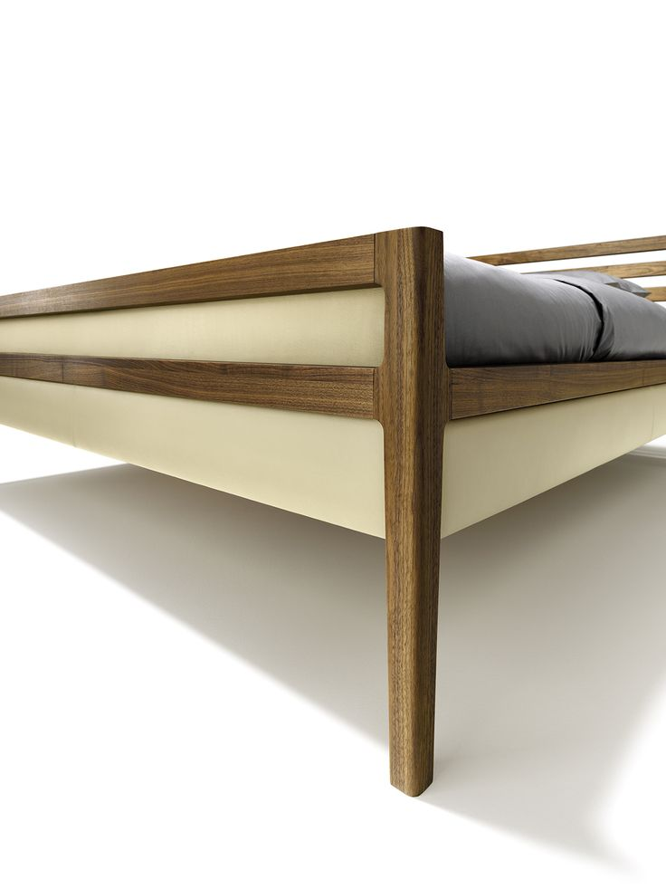 the mylon bed can also come with an elegant footboard on request team 7