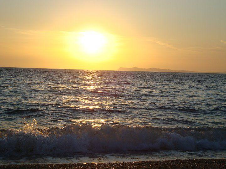 Amazing sunset in Karavostasi beach-Perdika,Epirus,Greece!
