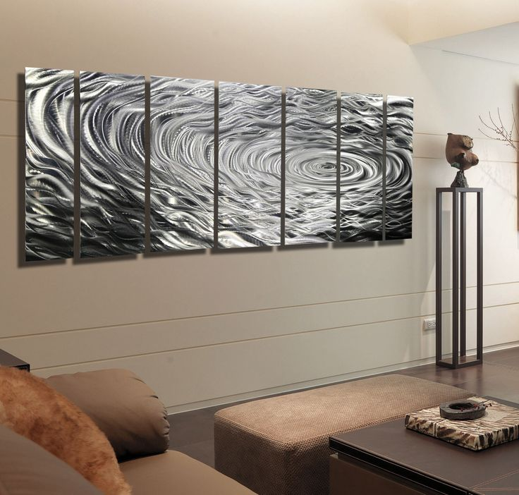 silver modern metal wall art contemporary metal wall sculpture large metallic wall hanging