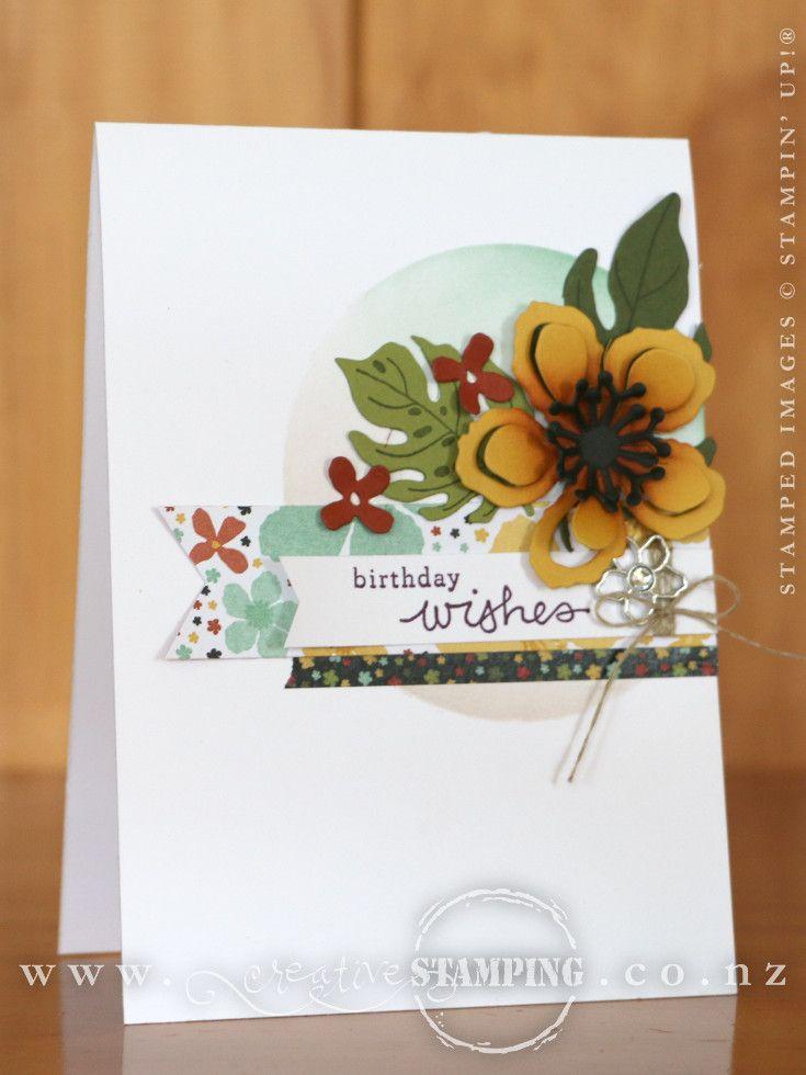 Stampin' Up! Botanical Blooms Birthday Card